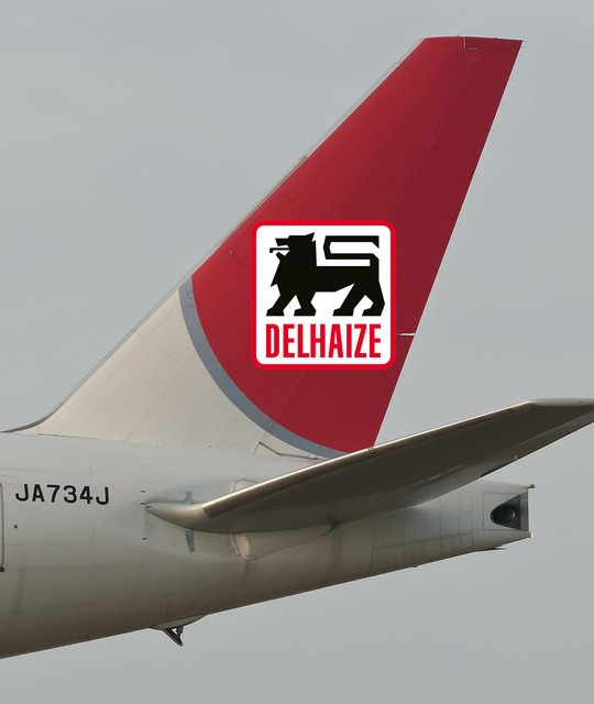 Delhaize vliegt